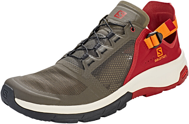 Salomon Techamphibian 4 Shoes Herre belugarusset orangered dahlia